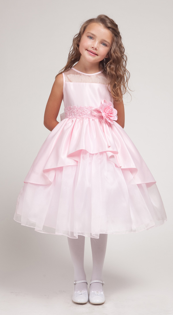 pink-flower-girl-dress