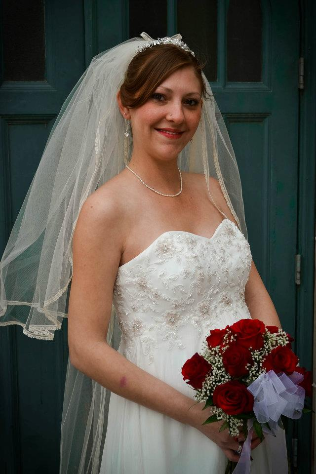Custom Made Chapel Length Veil w/ Delicate Lace Trim